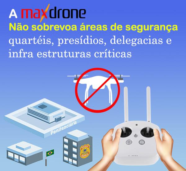Regulamentação de Drones - areas de segurança
