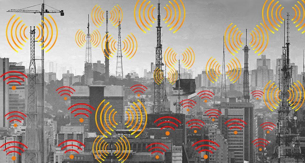 Av. Paulista Antenas e milhares de transmissões simultâneas