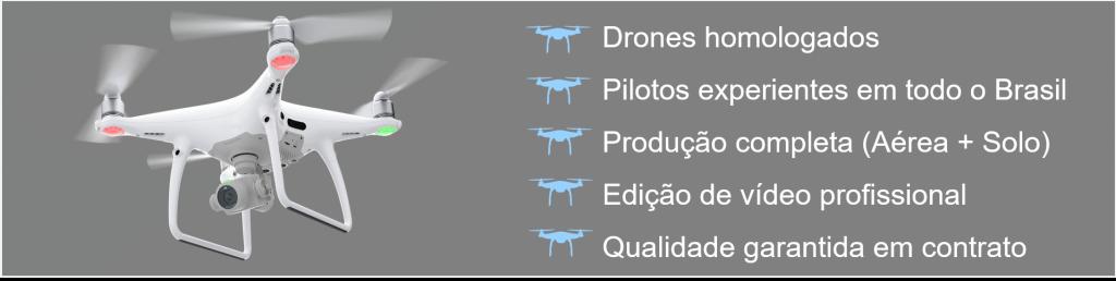 A Max Drone Brasil trabalha com sua Produção Completa (filmagem aérea + terrestre + vinheta + edição)