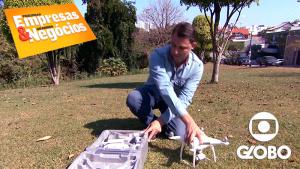 Max Drone em matéria com a Rede Globo