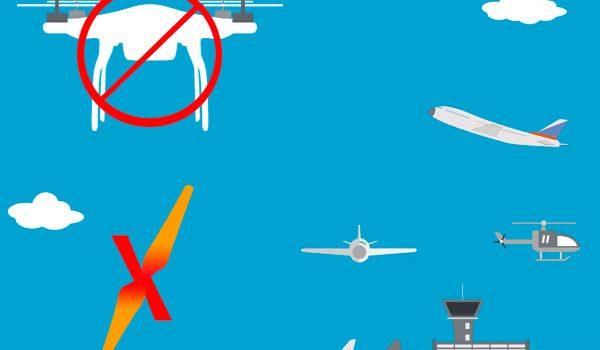 Voo irregular com drone próximo a aeroportos