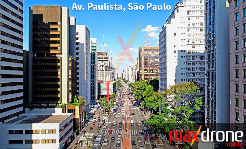 Drone em São Paulo SP - Foto de drone da Av. Paulista