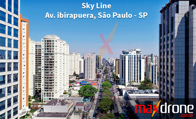 Drone em São Paulo SP - Foto de drone da Av. Ibirapuera