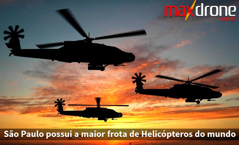 São Paulo tem a maior frota de helicópteros do mundo