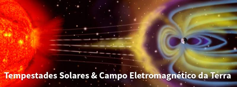 Tempestades solares & Campo Eletromagnético da Terra