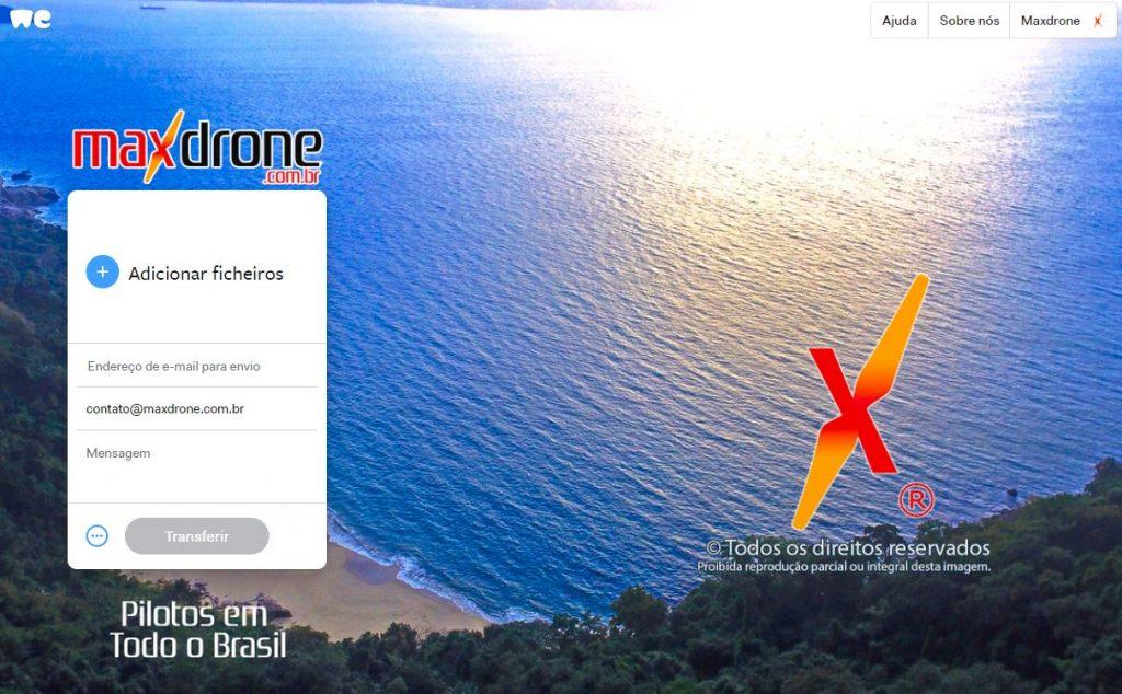 Envio de Arquivos Max Drone