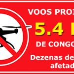 Aeroporto de Congonhas. Drone Proibido no raio de 5,4 KM (3 milhas)