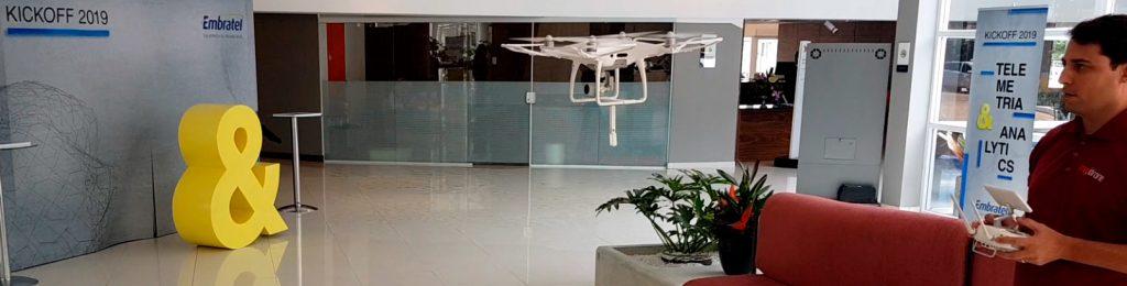 Ação com drone In-door realizado com sucesso para a Embratel