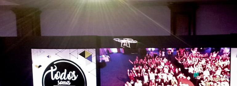 Ação de Marketing com Drone - Ativação Max drone Brasil