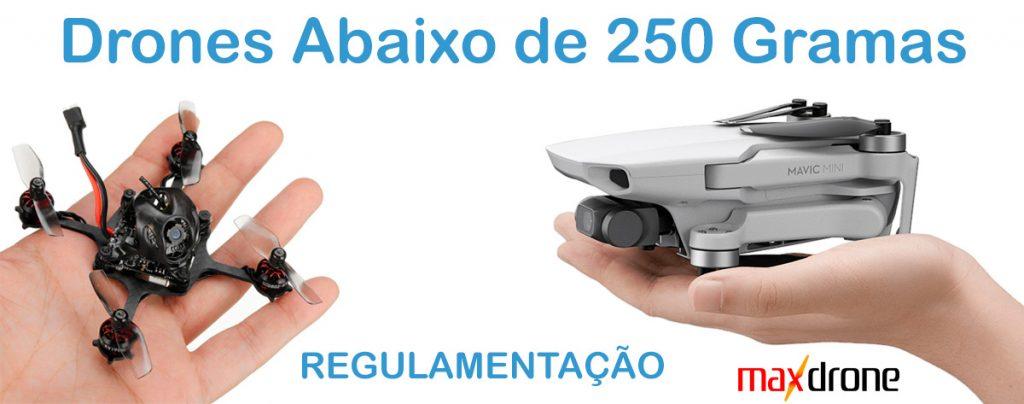 Drones com menos de 250 gramas - Regulamentação