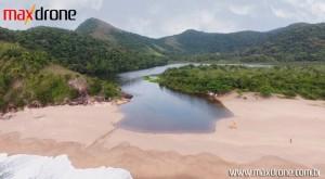 Foto com drone lagoa azul Caraguatatuba SP